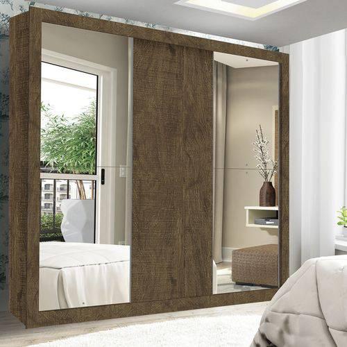 Guarda Roupa Casal com Espelho 3 Portas de Correr Accord Flex Siena Móveis Ypê