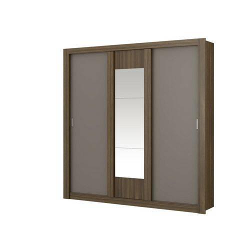 Guarda-roupa Casal Elus 3 Portas de Correr com Espelho Carraro