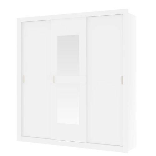 Guarda-roupa Casal Vivace 3 Portas de Correr Carraro com Espelho 834