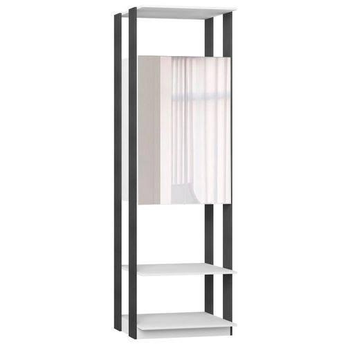 Guarda-roupa Closet Clothers 2 Portas Branco e Espresso