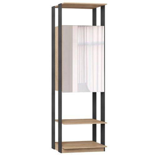 Guarda-roupa Closet Clothers 2 Portas Carvalho Mel e Espresso