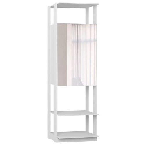 Guarda Roupa Closet Clothes 1007 2 Portas com Espelho Branco - Be Mobiliário