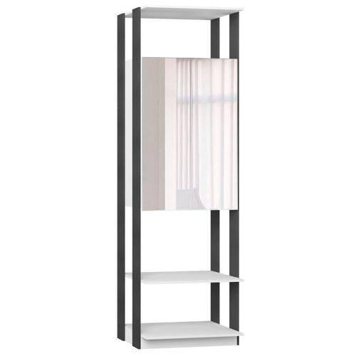 Guarda Roupa Closet Clothes 1007 2 Portas com Espelho Branco/espresso - Be Mobiliário