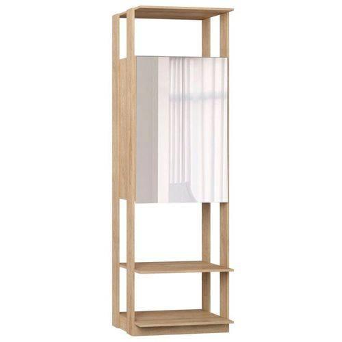 Guarda Roupa Closet Clothes 1007 2 Portas com Espelho Carvalho Mel - Be Mobiliário