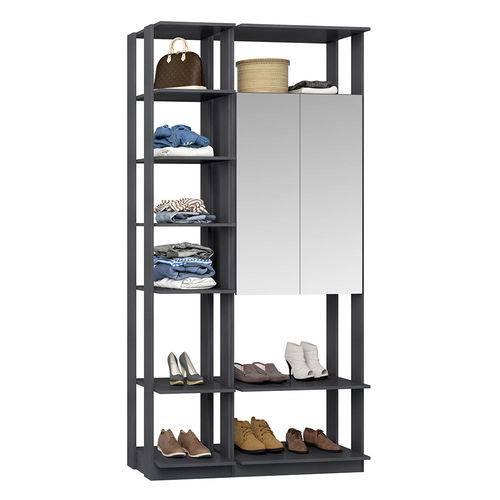 Guarda-Roupa Closet 2 Portas Espelhadas 9007 Espresso - Bentec