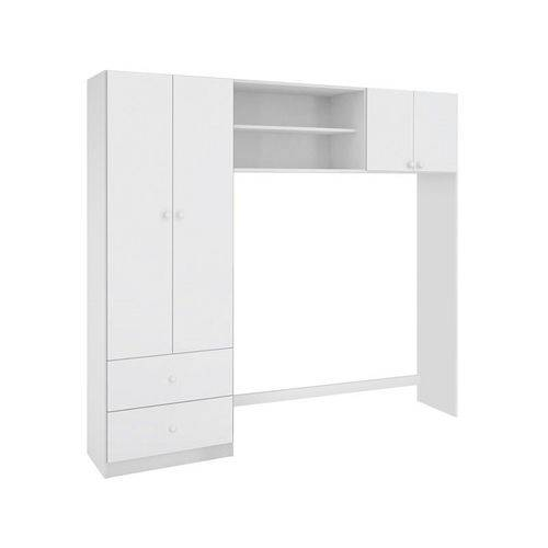 Guarda-roupa Conjugado 4 Portas Ternura Branco - Lc Móveis
