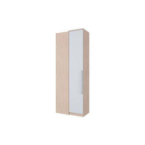 Guarda Roupa de Canto Reto Henn Diamante C/ 1 Porta (Componível) - Cor Fendi C/ Branco HP
