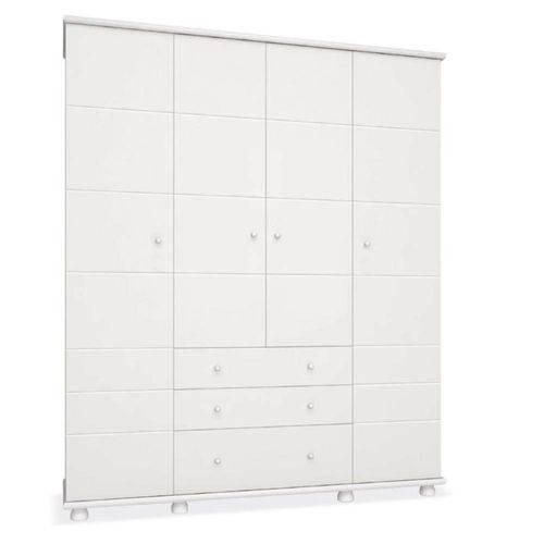 Guarda Roupa Diogo 4 Portas - Branco - Imaza Móveis