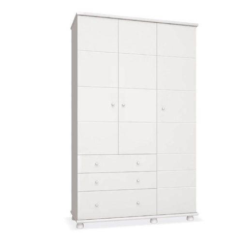 Guarda Roupa Diogo 3 Portas - Branco - Imaza Móveis
