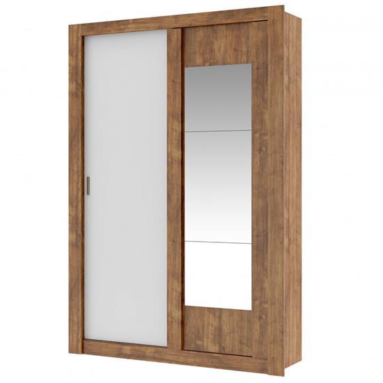 Guarda-Roupa Elus 1094 2 Portas C/ Espelho - Carraro   Elare