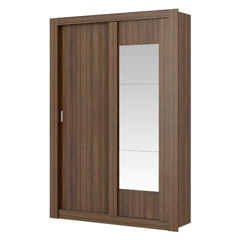 Guarda-Roupa Elus com Espelho - 2 Portas - Ébano ou Ébano com Atacama