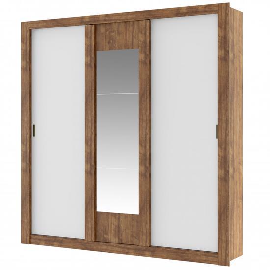 Guarda-Roupa Elus 3 Portas 1093 C/ Espelho - Carraro   Elare