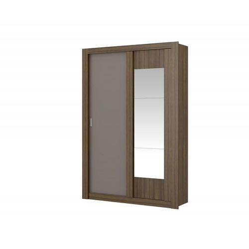 Guarda-roupa Elus 2 Portas 2 Gavetas com Espelho Ébano e Atacama