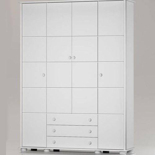 Guarda Roupa Fratelli 4 Portas - Branco Soft - Matic Móveis