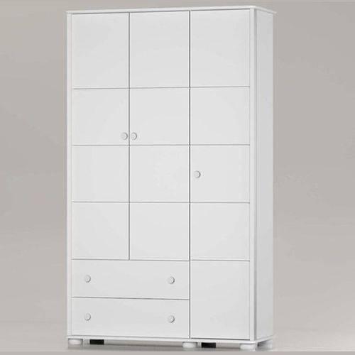 Guarda Roupa Fratelli 3 Portas - Branco Soft - Matic Móveis