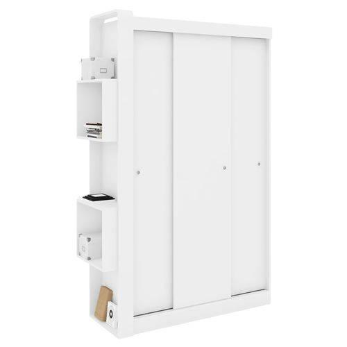 Guarda-Roupa Infantil com 3 Portas de Correr Sem Espelho Doce Cheiro GR50 Art In Móveis Branco