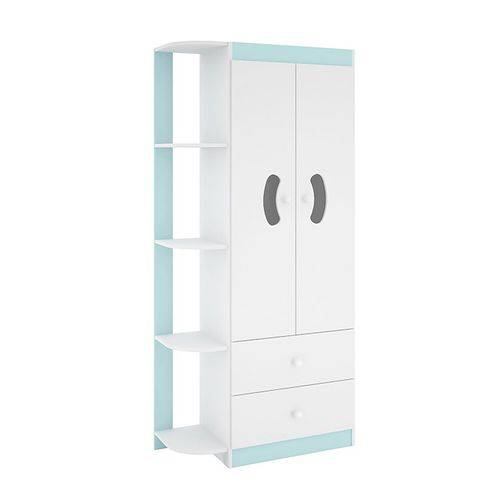 Guarda Roupa Infantil Flex 2 Portas Ternura Branco/azul/rosa - Peternella
