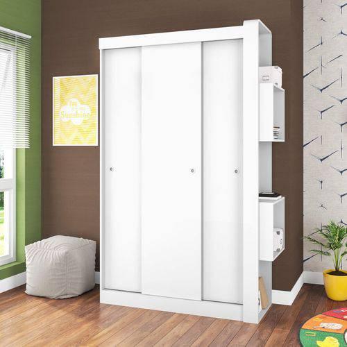 Guarda Roupa Infantil 3 Portas de Correr Sem Espelho Doce Cheiro Art In Móveis Branco