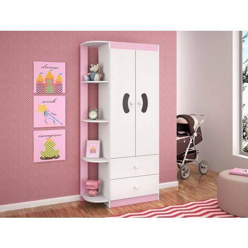 Guarda-roupa Infantil 2 Portas Ternura Flex Rosa/azul - Lc Móveis