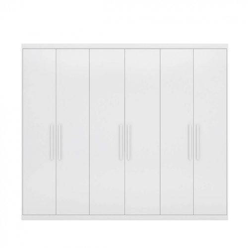 Guarda Roupa Maestro Casal 6 Portas Branco - Demobile