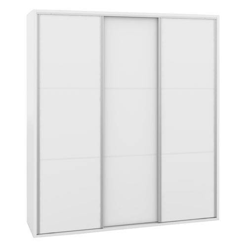 Guarda Roupa Milano 3 Portas Deslizantes Branco Fosco 2,08m