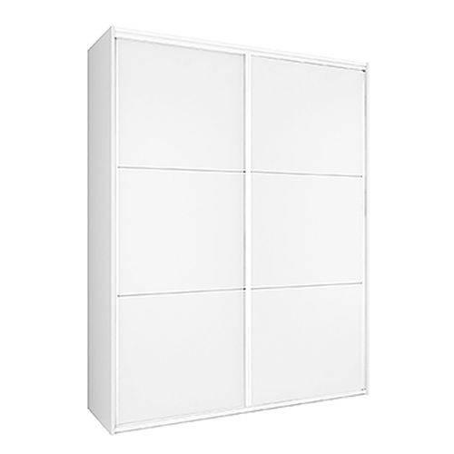 Guarda Roupa Milano 2 Portas Deslizantes Branco Fosco 1,80m