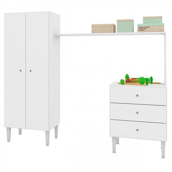 Guarda-Roupa Multifuncional Meu Fofinho GR5050 - Art In Móveis | Elare