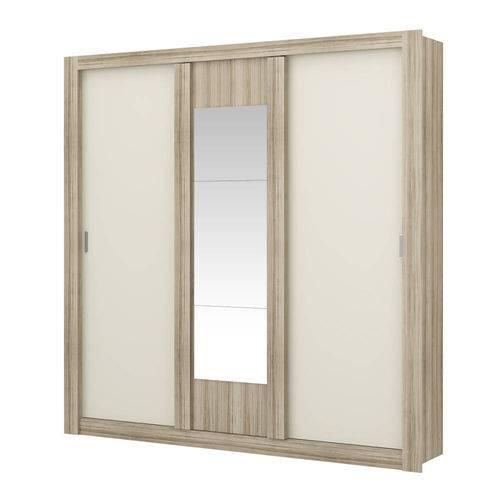 Guarda-roupa 3 Portas Carraro Elus 1093 C Espelho Anis Camurça se