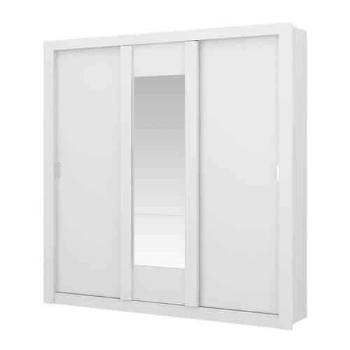 Guarda-roupa 3 Portas Carraro Elus 1093 C Espelho Branco Native se