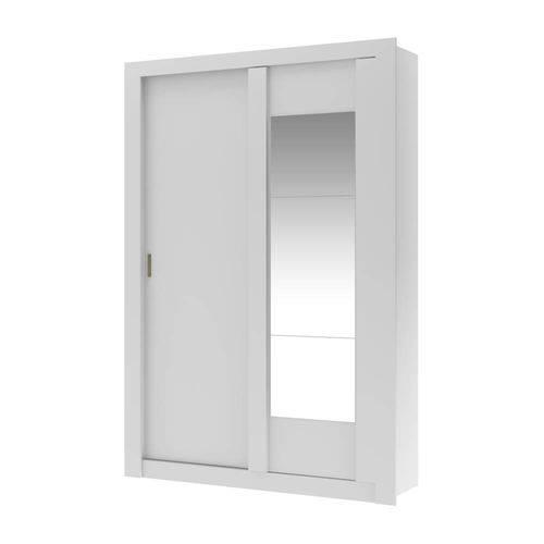 Guarda-roupa 2 Portas Carraro Elus 1094 C/ Espelho Branco Native se