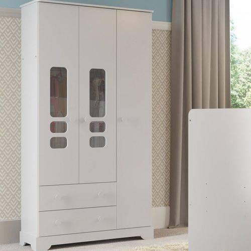 Guarda Roupa 3 Portas Smart - Branco Brilho - Matic Móveis