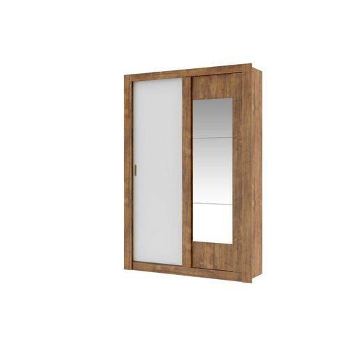 Guarda-roupa Solteiro Elus 2 Portas de Correr com Espelho Carraro