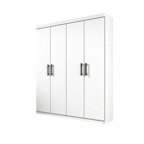 Guarda-roupa Solteiro Olimpo 4 Portas 3 Gavetas Branco