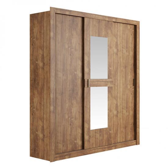 Guarda-Roupa Vivacce 3 Portas com Espelho 834 - Carraro   Elare