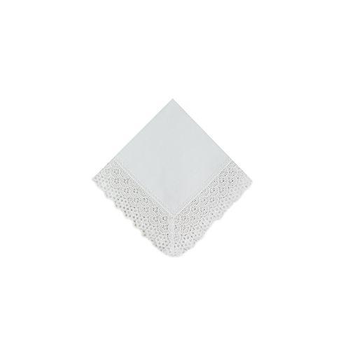 Guardanapo Branco com Guipure 7cm