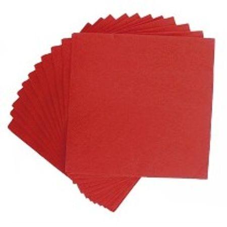 Guardanapo de Papel Vermelho 20cmx23cm - 50 Unidades