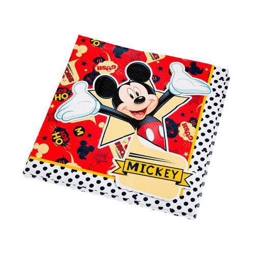 Guardanapo Decorativo Mickey Clássico 25x25 C/16 Folhas