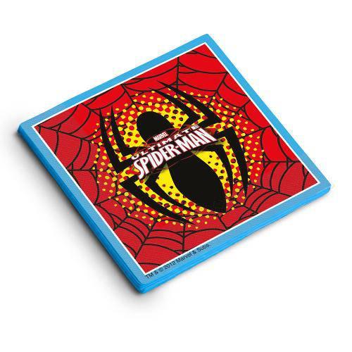 Guardanapo Decorativo Ultimate Spiderman 25x25 C/16 Folhas