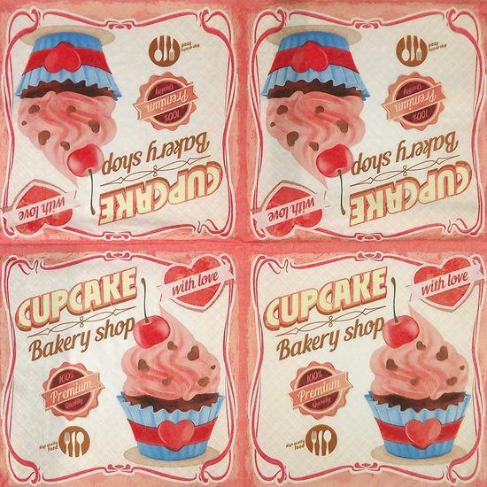 Guardanapo Decoupage Amor de Cupcake 2 Unidades GUA200280 - Toke e Crie