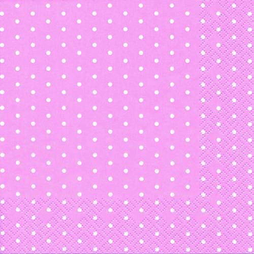 Guardanapo Descartável Bolinhas Rosa Claro