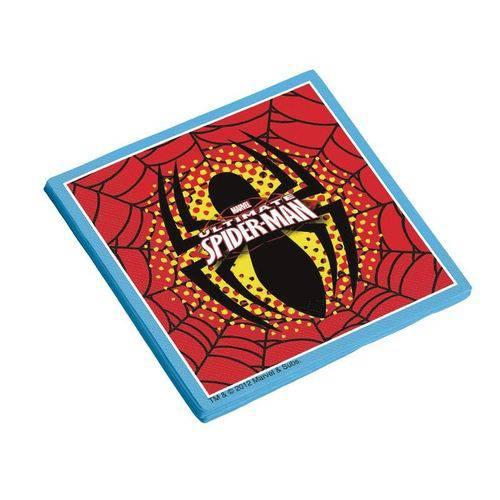 Guardanapo Folha Dupla Ultimate Spider Man 25x25cm - 16 Unidades