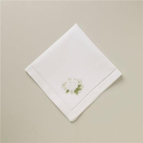 Guardanapo Hortensia - Branco-colorido - 40x40