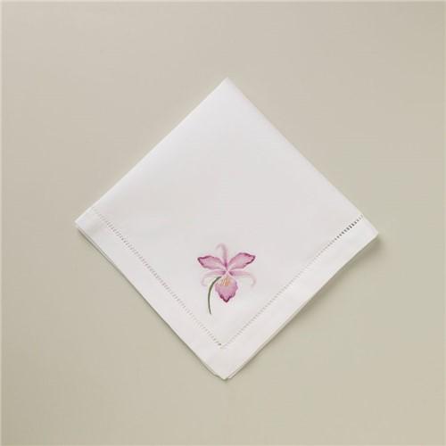 Guardanapo Orchid Pink - Branco-rosa - 40x40