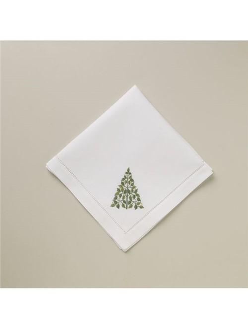 Guardanapo Piine Tree Branco Verde 40X40cm