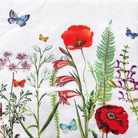 Guardanapo Toke e Crie Folhas e Flores - 5 Unid