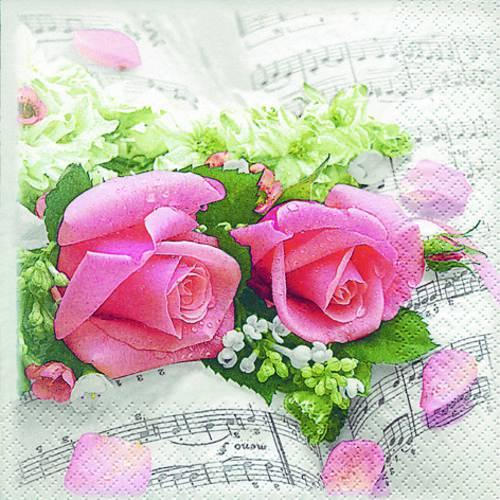 Guardanapos Descartáveis Sinfonia das Flores Hof211316