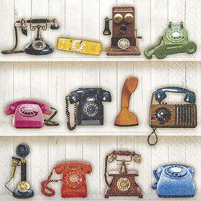 Guardanapos Telefones Retrô com 2 Unidades Ref.20059-GUA211531 Toke e Crie