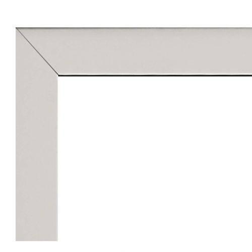 Guarnição Alúminio para Janela Basculante 3 Basculas 80cmx80cm Alumifort Sasazaki Branco