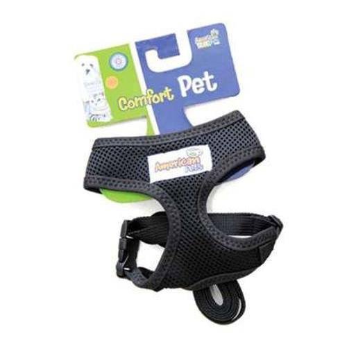 Guia e Peitoral American Pets Confort Preto - Tam G