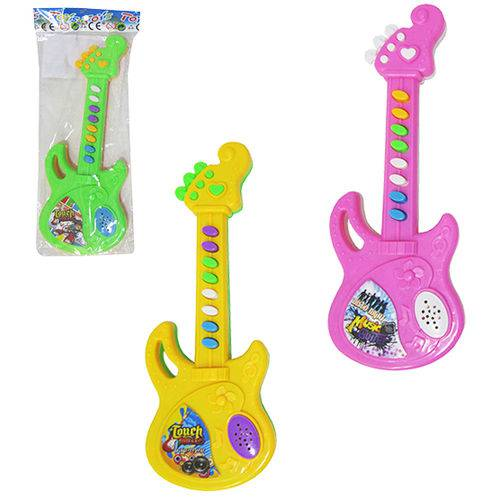 Guitarra Musical Infantil Touch Music Colors a Pilha na Solapa